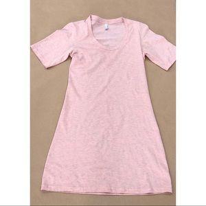 American Apparel Womens Dress T-Shirt Size XS Pink